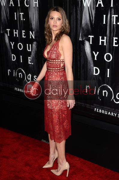 """Aimee Teegarden<br /> at the """"Rings"""" Los Angeles Special Screening, Regal LA Live, Los Angeles, CA 02-02-17<br /> David Edwards/DailyCeleb.com 818-249-4998"""
