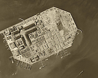 historical aerial photograph Treasure Island, San Francisco, California, 1946