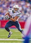 21 September 2014: San Diego Chargers running back Donald Brown rushes up field in the second quarter against the Buffalo Bills at Ralph Wilson Stadium in Orchard Park, NY. The Chargers defeated the Bills 22-10 in AFC play. Mandatory Credit: Ed Wolfstein Photo *** RAW (NEF) Image File Available ***