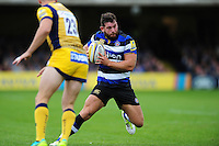 Nathan Catt of Bath Rugby in action. Aviva Premiership match, between Bath Rugby and Worcester Warriors on September 17, 2016 at the Recreation Ground in Bath, England. Photo by: Patrick Khachfe / Onside Images