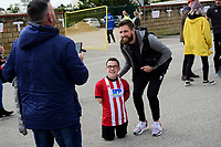 Lincoln City's Josh Vickers poses for a photograph after arriving at the ground<br /> <br /> Photographer Chris Vaughan/CameraSport<br /> <br /> The EFL Sky Bet League One - Lincoln City v Sunderland - Saturday 5th October 2019 - Sincil Bank - Lincoln<br /> <br /> World Copyright © 2019 CameraSport. All rights reserved. 43 Linden Ave. Countesthorpe. Leicester. England. LE8 5PG - Tel: +44 (0) 116 277 4147 - admin@camerasport.com - www.camerasport.com