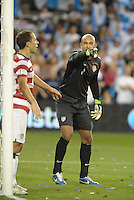 U.S goalkeeper Tim Howard organizes his defence..USMNT defeated Guatemala 3-1 in World Cup qualifying play at LIVESTRONG Sporting Park, Kansas City, KS.