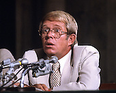 "Billy Carter, brother of United States President Jimmy Carter, testifies before the U.S. Senate Judiciary Subcommittee hearing ""To Investigate Activities of Individuals Representing Interests of Foreign Governments"", also known as ""Billygate"" on August 21, 1980.  The subcommittee was investigating Mr. Carter's involvement with the Libyan government..Credit: Arnie Sachs / CNP"