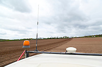Trimble GPS receiver & base station aerial - using GPS and base station to produce accurate carrot beds - Nottinghamshire