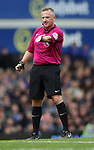 Jonathan Moss referee during the English Premier League match at Goodison Park , Liverpool. Picture date: April 30th, 2017. Photo credit should read: Lynne Cameron/Sportimage