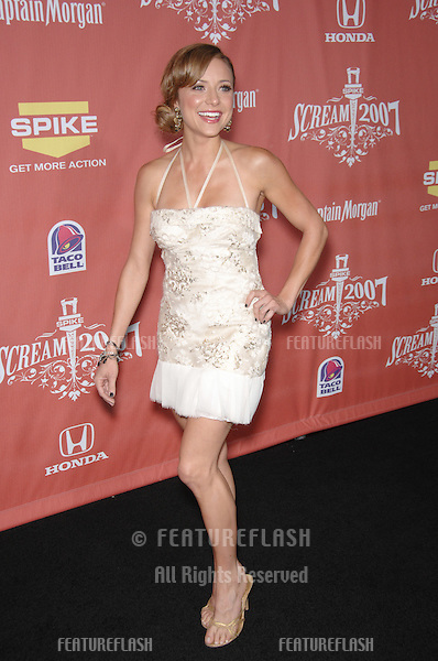 "Christine Lakin at Spike TV's ""Scream 2007"" Awards honoring the best in horror, sci-fi, fantasy & comic genres, at the Greak Theatre, Hollywood..October 20, 2007  Los Angeles, CA.Picture: Paul Smith / Featureflash"