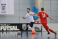 Richard Ward of England controls the ball during England vs Poland, International Futsal Friendly at St George's Park on 2nd June 2018