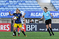 20200304 Faro , Portugal : Swedish Hanna Bennison (24) pictured during the female football game between the national teams of Germany and Sweden on the first matchday of the Algarve Cup 2020 , a prestigious friendly womensoccer tournament in Portugal , on wednesday 4 th March 2020 in Faro , Portugal . PHOTO SPORTPIX.BE | STIJN AUDOOREN