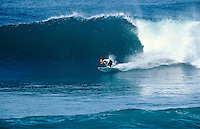 Hawaiian Surfer Shane Dorian (HAW) competing in the 1997 Rip Curl Pro at Bells Beach, Torquay, Victoria, Australia. Photo: joliphotos.com