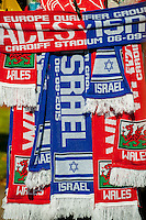 Wales and Israel scarfs prior to the the UEFA EURO 2016 Group B qualifying round match held at Cardiff City Stadium, Cardiff, Wales, 06 September 2015. EPA/DIMITRIS LEGAKIS