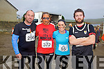 Ready for the off at the Portmagee Hell Mountain Challenge on Saturday were l-r; Anthony O'Sullivan(Valentia), Aine Sweeney(Killarney), Sinead O'Connor(Beaufort) & Donnachadh Lynch(Cahersiveen).