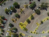 Autos en estacionamiento. Cenital. Parking Car. <br /> Paisaje urbano, paisaje de la ciudad de Hermosillo, Sonora, Mexico.<br /> Urban landscape, landscape of the city of Hermosillo, Sonora, Mexico.<br /> (Photo: Luis Gutierrez /NortePhoto)