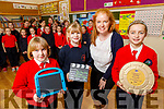 Students in Scoil Mhuire gan Smál in Lixnaw received an award for the outstanding achievement in film making for their story telling of the Busy Bees.<br /> Front l to r: Rhona Daly, Abbie McElhinney (Director), Paige Murphy (Behind the scene) and Susan Browne (Teacher).