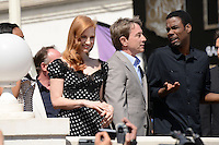 Jessica Chastain, Martin Short and Chris Rock attending the Madagaskar III photocall at Carlton hotel during Cannes International Film Festival in Cannes, France, 17.05.2012..Credit: Timm/face to face /MediaPunch Inc. ***FOR USA ONLY***