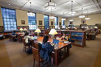 Occidental College students study in the Mary Norton Clapp Library and Academic Commons on the Los Angeles, California campus. (Photo by Marc Campos, Occidental College Photographer)