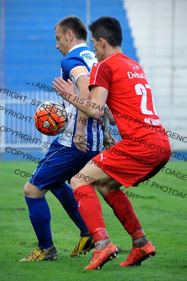 Fudbal Jelen Super League season 2016-2017<br /> Novi Pazar v Napredak (Krusevac)<br /> Irfan Vusljanin (L) i Slobodan Urosevic (D)<br /> Novi Pazar, 22. 10. 2016<br /> foto: Emir Sadovic/Starsportphoto &copy;