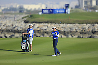 Phachara Khongwatmai (THA) during the first round of the NBO Open played at Al Mouj Golf, Muscat, Sultanate of Oman. <br /> 15/02/2018.<br /> Picture: Golffile | Phil Inglis<br /> <br /> <br /> All photo usage must carry mandatory copyright credit (&copy; Golffile | Phil Inglis)