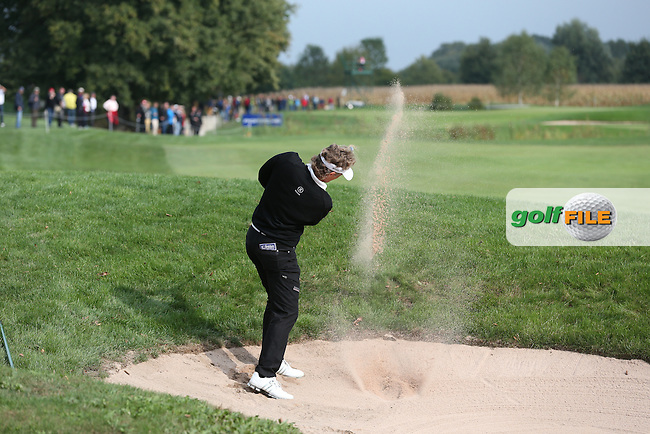 Bernhard Langer (GER) out of the fairway bunker down the 10th during the First Round of the Porsche European Open 2015 played at Golf Resort Bad Griesbach, Bad Griesbach, Germany.  24/09/2015. Picture: Golffile | David Lloyd<br /> <br /> All photos usage must carry mandatory copyright credit (&copy; Golffile | David Lloyd)