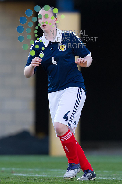 Haylie Crosbie during the Women's Under-17 challenge match between Scotland and Sweden at Almondvale Stadium, Livingston.  27 March. Picture by Ian Sneddon / Universal News and Sport (Scotland). All pictures must be credited to www.universalnewsandsport.com. (Office) 0844 884 51 22.