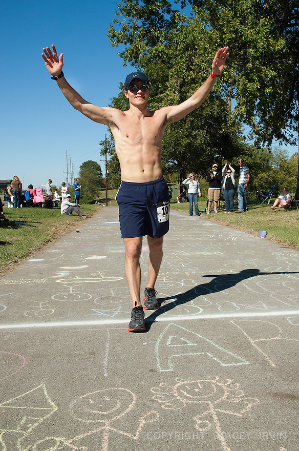 Nashville Ultra Marathon Finish Line - 10/15/11.