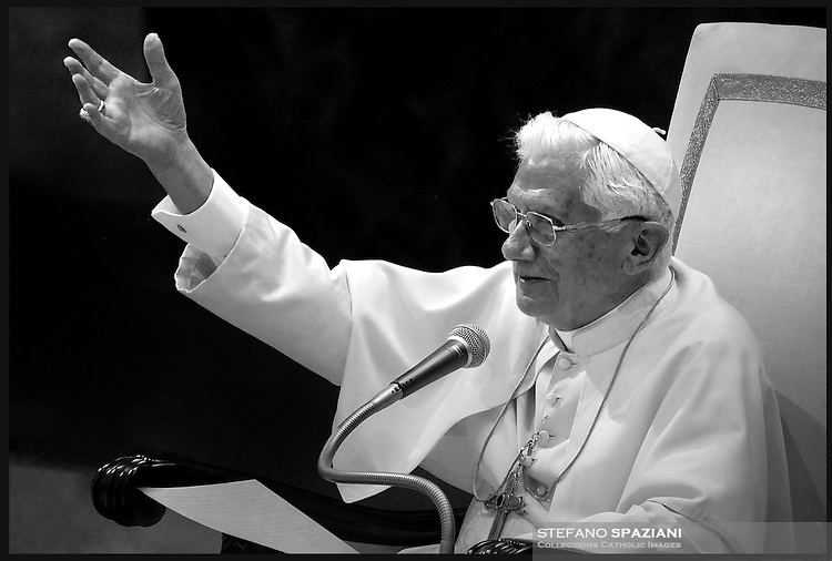 Pope Benedict XVI looks on during his weekly general audience on September 14, 2011 in Paul VI hall at the Vatican