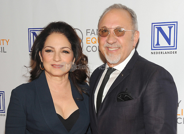 NEW YORK, NY - MAY 09: Gloria Estefan and Emilio Estefan attend the 11th Annual Family Equality Council Night at the Pier at Pier 60 on May 9, 2016 in New York City.  Photo Credit: John Palmer/Media Punch