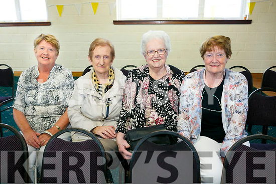Bishop Ray Browne   celebrate a Centenary  Mass at the Austin Stack's Club in Connolly Park on  Tuesday. Pictured l-r Margaret O'Brien, Nuala Ryan, Mary O'Keeffe, Phil Lynch