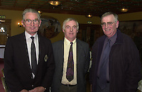 The Kerry GAA Coaching and Games Development Committee held an appreciation night in the Earl of Desmond Hotel Tralee for teachers and  GAA workers in schools in recognition of their work in promoting and developing GAA games in schools. From left are Teddy O'Sullivan, Co. Board, Joe Kelly, Tralee Community College and Brother John Guinane, Miltown Presentation.<br />