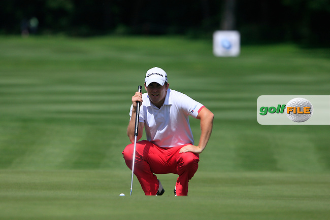 Richie Ramsay (SCO) lines up his putt on the 7th green during Day 2 of the BMW International Open at Golf Club Munchen Eichenried, Germany, 24th June 2011 (Photo Eoin Clarke/www.golffile.ie)