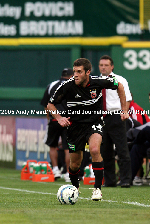 21 May 2005: Ben Olsen. DC United defeated the Kansas City Wizards 3-2 at RFK Stadium in Washington, DC in a regular season Major League Soccer game. . .