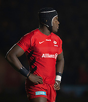 Saracens' Maro Itoje<br /> <br /> Photographer Bob Bradford/CameraSport<br /> <br /> Gallagher Premiership - Harlequins v Saracens - Saturday 6th October 2018 - Twickenham Stoop - London<br /> <br /> World Copyright &copy; 2018 CameraSport. All rights reserved. 43 Linden Ave. Countesthorpe. Leicester. England. LE8 5PG - Tel: +44 (0) 116 277 4147 - admin@camerasport.com - www.camerasport.com