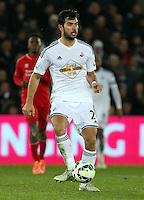 SWANSEA, WALES - MARCH 16: Jordi Amat of Swansea<br />