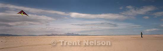 Kite flier at the Great Salt Lake<br />