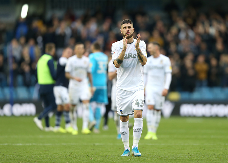 Leeds United's Mateusz Klich<br /> <br /> Photographer Rob Newell/CameraSport<br /> <br /> The EFL Sky Bet Championship - Millwall v Leeds United - Saturday 5th October 2019 - The Den - London<br /> <br /> World Copyright © 2019 CameraSport. All rights reserved. 43 Linden Ave. Countesthorpe. Leicester. England. LE8 5PG - Tel: +44 (0) 116 277 4147 - admin@camerasport.com - www.camerasport.com