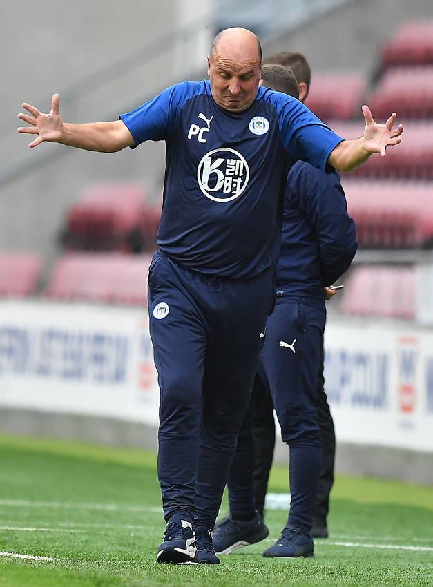 Wigan Athletic's Manager Paul Cook<br /> <br /> Photographer Dave Howarth/CameraSport<br /> <br /> The EFL Sky Bet Championship - Wigan Athletic v Fulham - Wednesday July 22nd 2020 - DW Stadium - Wigan<br /> <br /> World Copyright © 2020 CameraSport. All rights reserved. 43 Linden Ave. Countesthorpe. Leicester. England. LE8 5PG - Tel: +44 (0) 116 277 4147 - admin@camerasport.com - www.camerasport.com