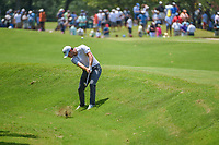 Patrick Cantlay (USA) hits his approach shot on 9 during round 4 of the WGC FedEx St. Jude Invitational, TPC Southwind, Memphis, Tennessee, USA. 7/28/2019.<br /> Picture Ken Murray / Golffile.ie<br /> <br /> All photo usage must carry mandatory copyright credit (© Golffile | Ken Murray)
