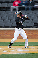 Jonathan Pryor (11) of the Wake Forest Demon Deacons at bat against the Appalachian State Mountaineers at Wake Forest Baseball Park on February 13, 2015 in Winston-Salem, North Carolina.  The Mountaineers defeated the Demon Deacons 10-1.  (Brian Westerholt/Four Seam Images)