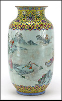 BNPS.co.uk (01202 558833)Pic EastbourneAuctions/BNPS<br /> <br /> Sold for &pound;87,000 - Cracking price paid for broken vase pensioner was taking to a charity shop. <br /> <br /> A pensioner who was about to take a broken vase to charity shop before a sharp eyed auctioneer intervened is celebrating today after it sold for &pound;86,000.<br /> <br /> Anne Beck had inherited the cracked and chipped 12ins tall item from her grandfather who was an antique restorer but he never got round to repairing it.<br /> <br /> The 83-year-old kept it in her garage for years until she put it on the back seat of her car to take it to a charity shop.<br /> <br /> On the way she called in to an auction house valuation day and was persuaded to sell it instead.