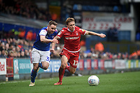 Ipswich Town's Alan Judge battles with Nottingham Forest's Ben Osborn<br /> <br /> Photographer Hannah Fountain/CameraSport<br /> <br /> The EFL Sky Bet Championship - Ipswich Town v Nottingham Forest - Saturday 16th March 2019 - Portman Road - Ipswich<br /> <br /> World Copyright &copy; 2019 CameraSport. All rights reserved. 43 Linden Ave. Countesthorpe. Leicester. England. LE8 5PG - Tel: +44 (0) 116 277 4147 - admin@camerasport.com - www.camerasport.com