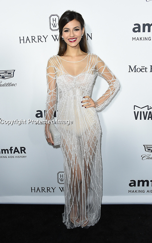 Victoria Justice @ the 2016 amfAR's Inspiration Gala held @ the Milk studios.<br /> October 27, 2016 , Los Angeles, USA. # SOIREE 'AMFAR'S INSPIRATION GALA 2016' A LOS ANGELES