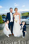 Yvonne Corridon, Ardfert, daughter of Ned and Eileen Corridon, and Stephan O'Carroll, Ballyduff, son of John and Una O'Carroll were married at St. Brendan's Church, Ardfert, by Fr. Michael Enright on Saturday 30th April 2016 with a reception at Ballyroe Heights Hotel. Pictured here with son and daughter Megan and Shane O'Carroll