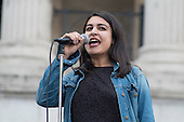 Student Sophie Nazemi, organiser of Yes To Europe rally, Trafalgar Square, London.