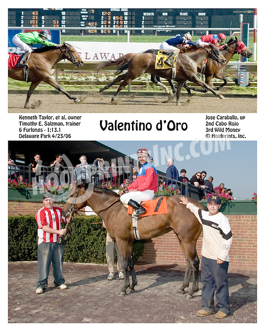 Valentino d'Oro winning at Delaware Park on 4/23/2006