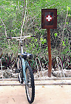 Bike and first aid station in jungle