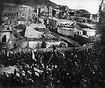 Demonstration during the October strike. Vladivostok. October 1905 / Демонстрация в дни Октябрьской стачки. Владивосток. Октябрь 1905