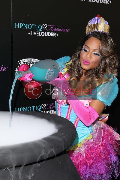 Christina Milian<br /> at the HPNOTIQ Liqueur Launch, Beacher's Madhouse, Hollywood, CA 10-26-12<br /> David Edwards/DailyCeleb.com 818-249-4998