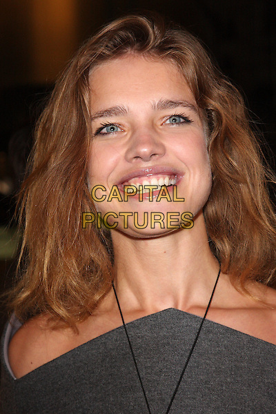 NATALIA VODIANOVA .Vogue Fashion's Night Out - Giorgio Armani Party held at the Emporio Armani store, New Bond Street, London, England, UK, September 8th 2010..portrait headshot smiling grey gray necklace .CAP/ROS.©Steve Ross/Capital Pictures