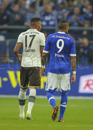 21.09.2013. Gelsenkirchen, Germany. Brothers Kevin Prince Boateng S04 9 side by side with borhter Jermoe Boateng