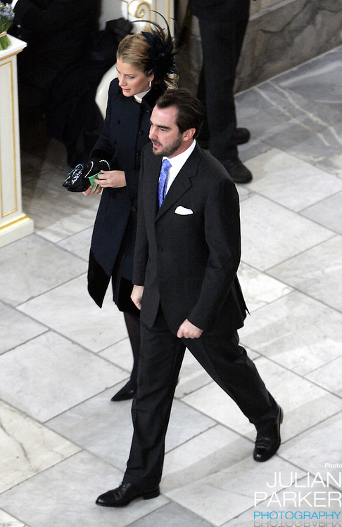 Prince Nikolaos of Greece attends the Christening of Crown Prince Frederik & Crown Princess Mary of Denmark's son Christian Valdemar Henri John at the Palace Chapel, Christiansborg Palace, followed by a reception in the Great Hall..