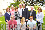 Brid Sugrue sister of Eamon Kelly presents the Killarney Arts Eamon Kelly Bursary to Denis Buckley in Killarney on Wednesday evening front row l-r: Tim O'Shea, Claire and Johnny Buckley. Back row: Mary Murphy, Eileen Buckley, Brid Sugrue, Mike Buckley, Denis Buckley, Michael O'Leary Killarney Town Clark and Liz Ryan ..